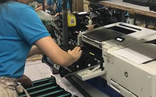 Cartridge printing test
